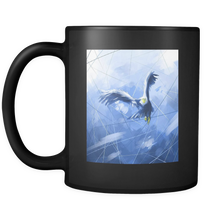 Sky Blue Eagle Freedom Black 11oz Mug
