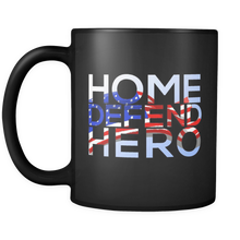 Defend Hero Veterans Day Support and Honor Black 11oz  Mug