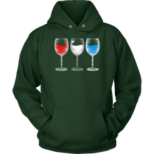 Red Wine and Blue American US Patriot Party Drinkers Hoodie