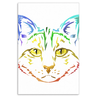 Cat Love Artistic Cats Pet Cats Lover Gift Canvas Art