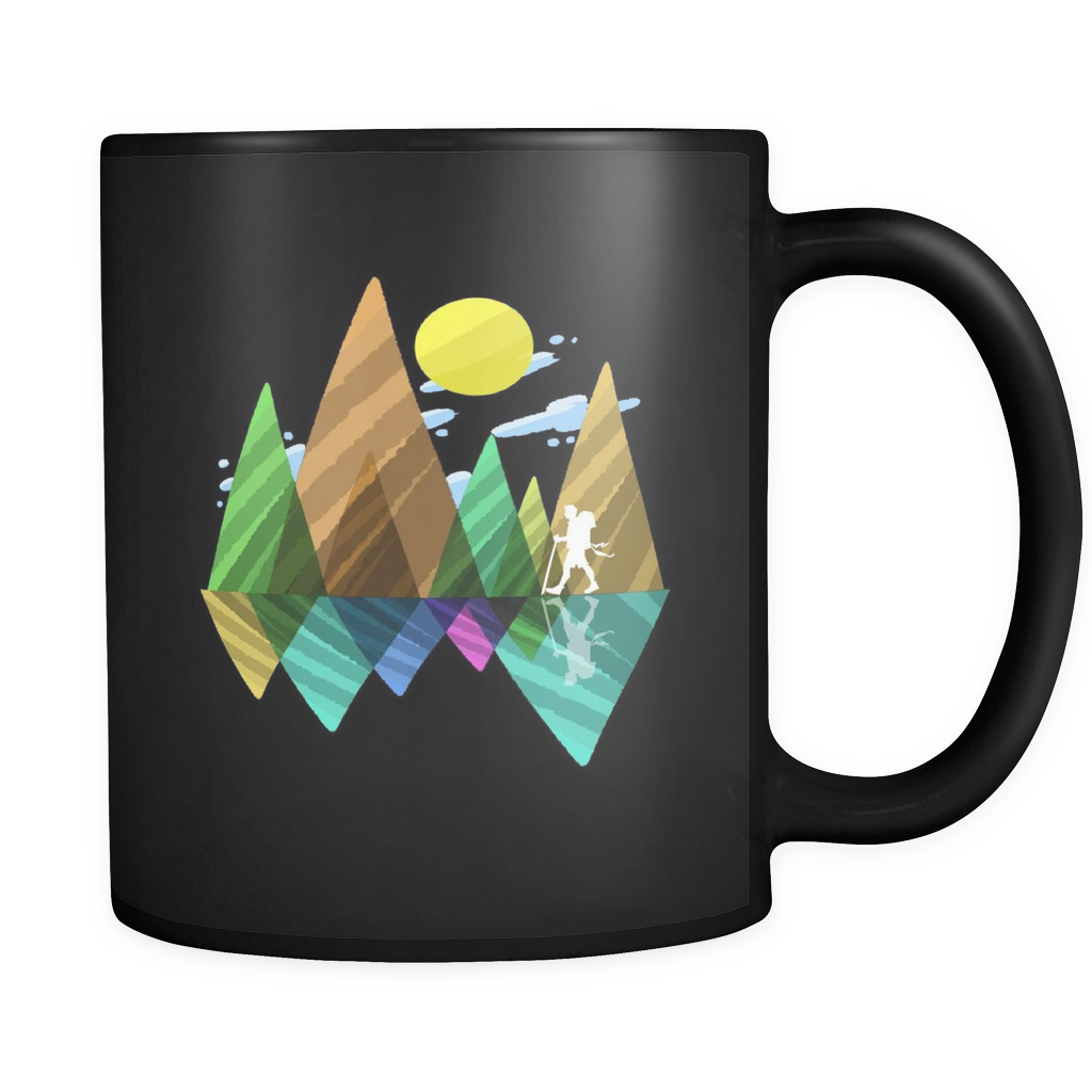 Smoky Mountains,National Park Love Hiking Walking Black 11oz mug