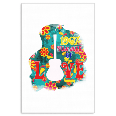 1967 Summer Of Love Summertime Sunset Holiday Canvas Art