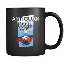 Antiguan Roots Antigua, Barbuda Pride Tree of Life Black 11oz mug