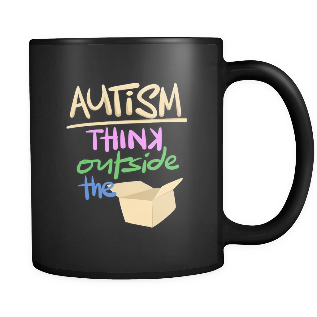 Think Outside The Box Autism Awareness Mug