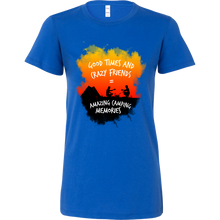 Funny Good Times & Crazy Friends - Camping Memories Bella Shirt
