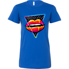 Hot Pink Lips Kiss Me Lipstick Party Bella Shirt