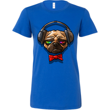 Funny Pug Music Lover Dog Novelty Bella Shirt