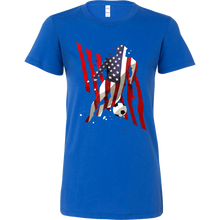U.S.A Soccer American Football Sports Premium Bella Shirt