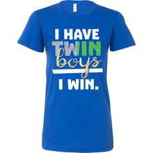 I Have Twin Boys Twin Parents Hilarious Funny Bella Shirt