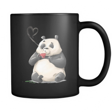 "Custom Animal Ceramic Mug ""Panda Loves Coffee"" - Tea Mug from Lifehiker Designs"