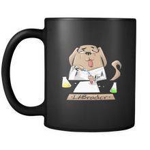 Dog Animal Mug - LABrador funny image on black 11oz mug