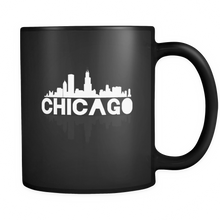 Chicago City Skyline Landmark U.S.A Souvenir Travel Black 11oz
