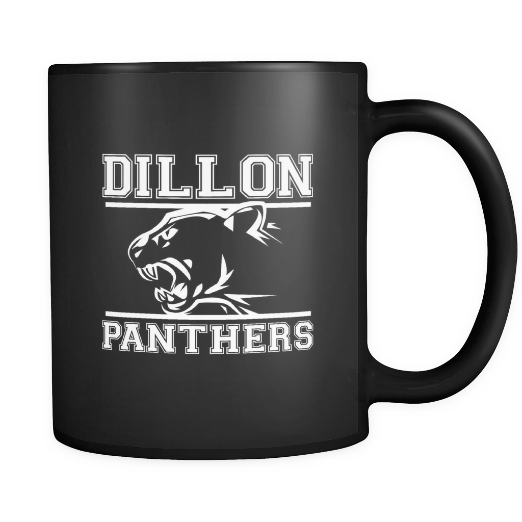 Dillon Panthers Football Quote on black ceramic 11oz mug Collection