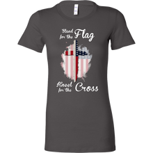 Stand For The Flag Kneel For The Cross Christian Bella Shirt