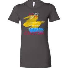 Don't Quit, Be a Champion Inspirational Motivational Bella Shirt