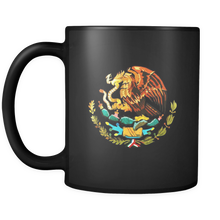 I Love Mexico: Mexico Coat of Arms Souvenir Gift Black 11oz Mug