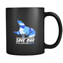 Save Our Polar Bears,Endangered Animal Love Bears Black 11oz mug