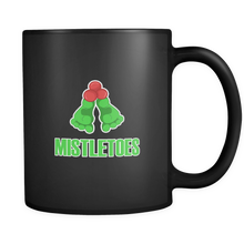 Christmas Funny and Cute Mistletoes Novelty Black 11oz Mug