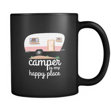 Camper Is My Happy Place Cute Camping Baby Black 11oz mug