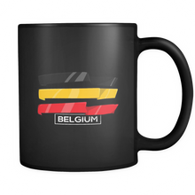 Belgian, Belgium Europe Patriotic Country Flag Black 11oz Mug