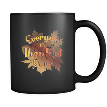 Thankful For Me Thanksgiving 2017 Share The Love Black 11oz Mug
