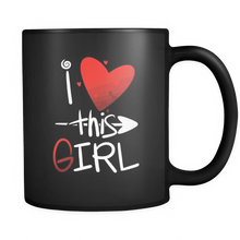 """I Love This Girl Mug"" -11 oz  Valentine Mug - Personalized Coffee Mug by Lifehiker Designs"