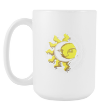 Namaste Quarter Moon and Sun Yoga Spiritual Meditation 15oz Mug