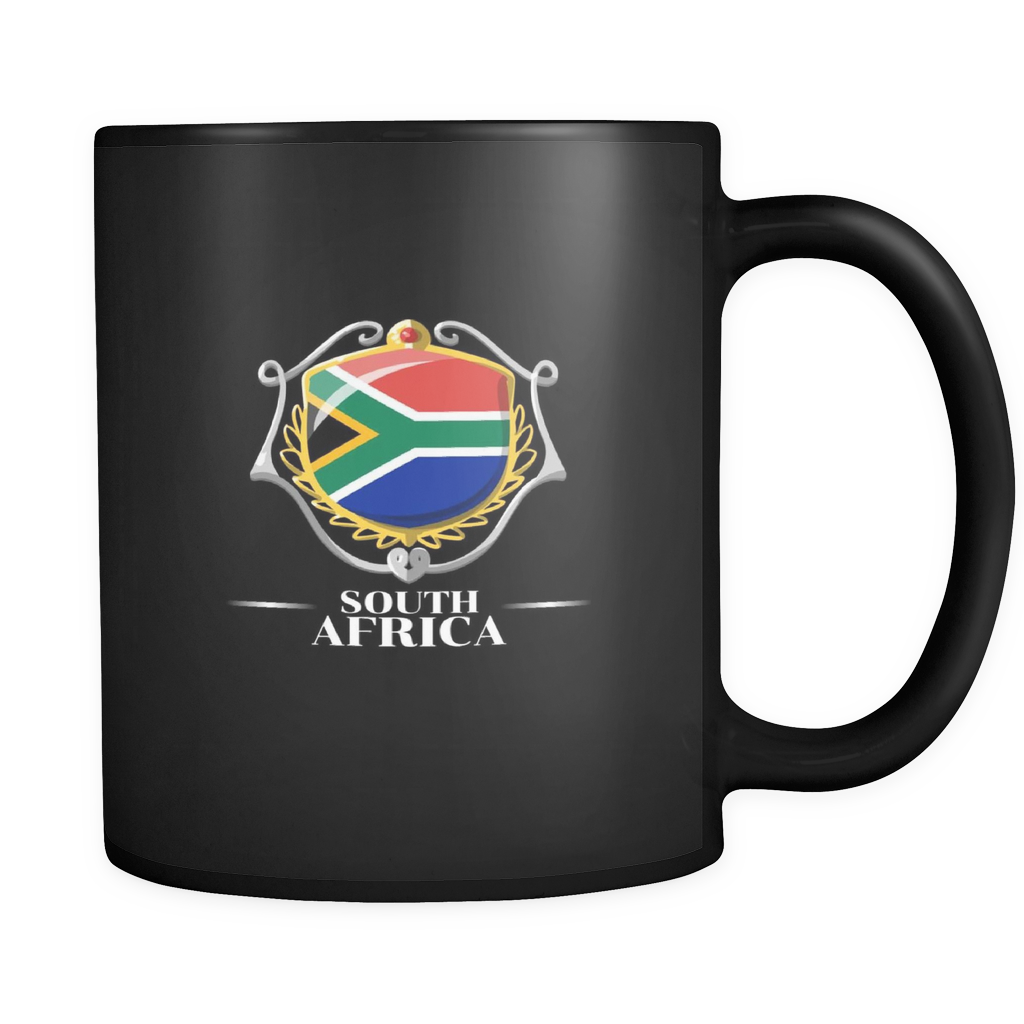 South Africa, South African Pride Patriotic Flag Black 11oz mug