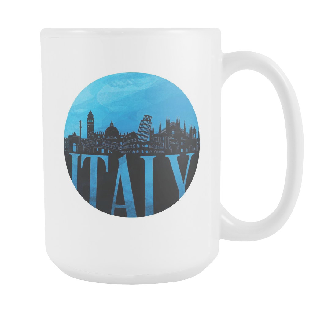 Italy Skyline Horizon Sunset Love Everything Italian White 15oz Mug