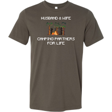 Husband and Wife Camping Partners Couple T-shirt