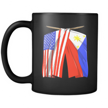 Philippines Flag Mug Filipino American Flag Black Mug