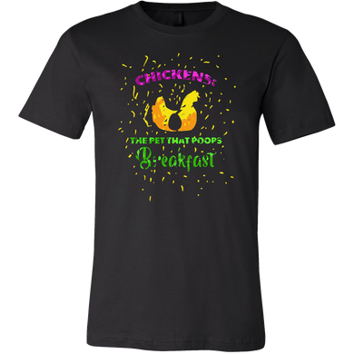Chickens Poop For Breakfast Funny Animal Pet Lover Apparel