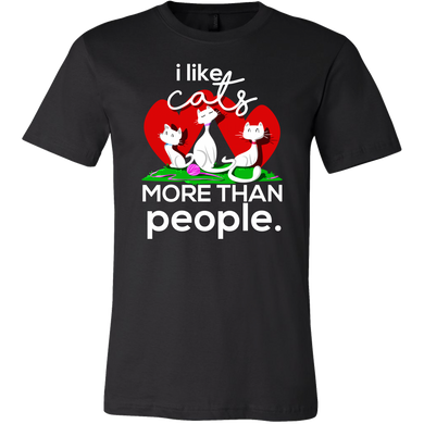 I Like Cats More Than People Novelty T-Shirt