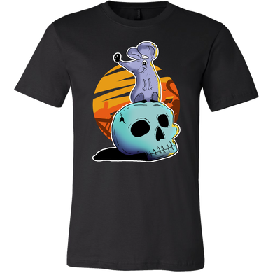 Happy Halloween Night Mouse Skull Costume T-Shirt