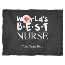 World's Best Nurse Fleece Blanket (Your Name Here)