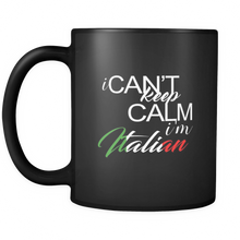 I Can't Keep Calm I'm Italian Quote on Italian Coffee Mug