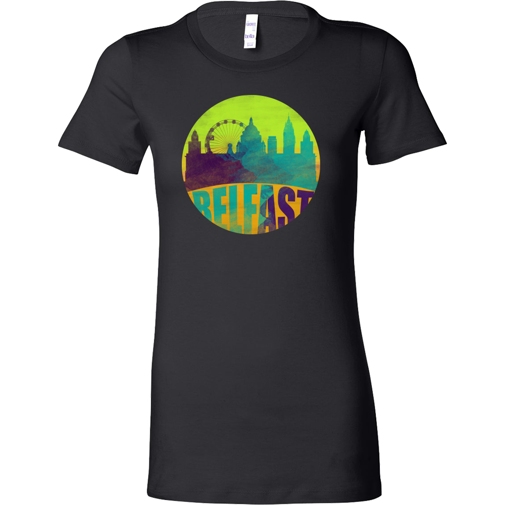 Belfast Skyline Horizon Sunset Love Northern Ireland Bella Shirt