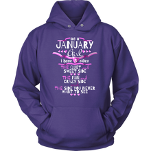 January Girl,Crazy, Sweet and Fun Birthday B Day Gift Hoodie