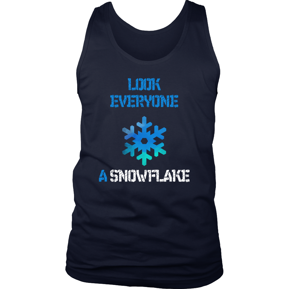 Christmas Snowflakes, Merry Christmas Winter Season Men's tank