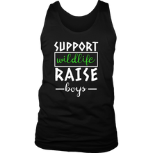 Support Wildlife, Raise Boys Cool Mama, Mums and Dads Tank