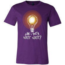 Get a Watt Watt Lightbulb Funny Pun Jokers Gift T-Shirt