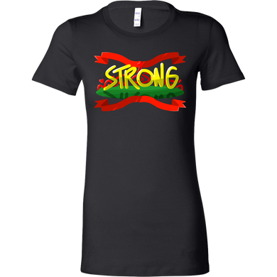 Vigorously Strong Inspirational Motivational Bella Shirt