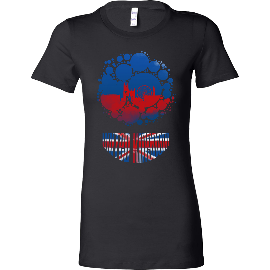 United Kingdom Skyline Horizon Sunset Love Country Bella Shirt