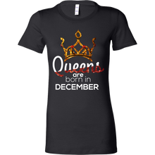 Queens Are Born in December Birthday B-day Bella Shirt