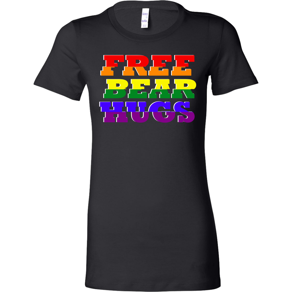 Free Bear Hugs Rainbow Share The Love Bella Shirt