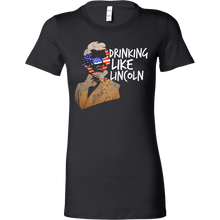 Drinking Like Lincoln Party Funny USA 4th Of July Bella Shirt