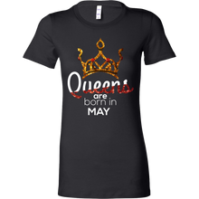 Queens Are Born in May Birthday B-day Bella Shirt