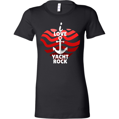 I Love Yacht Rock and Roll Anchor Funny Bella Shirt