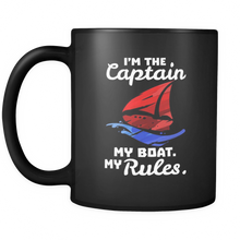 I Am The Captain,My Boat,My Rules Boating Bosses Funny Black 11oz mug