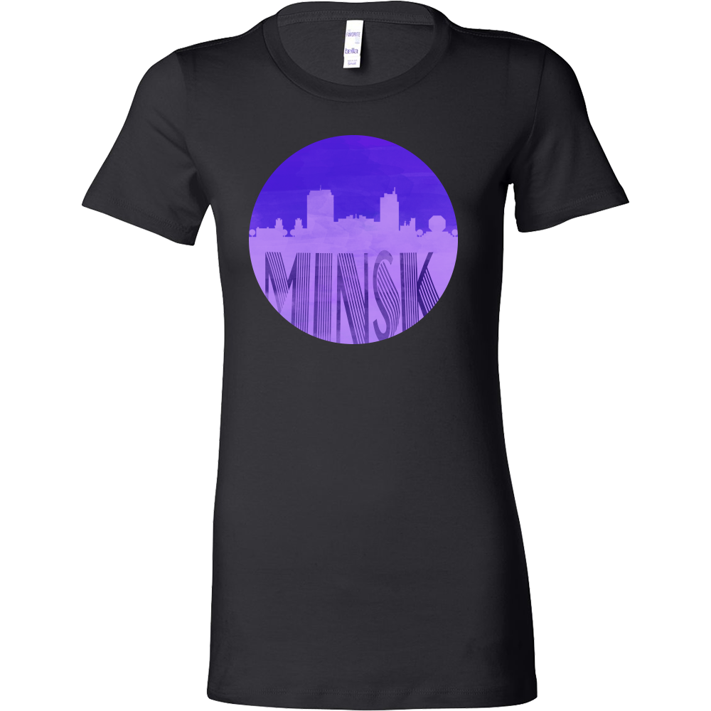 Minsk Skyline Horizon Sunset Love Belarus Bella Shirt